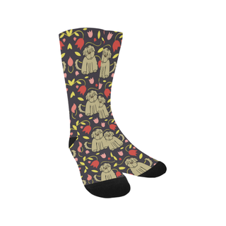 Tibetan Terrier Flower Trouser Socks - TeeAmazing