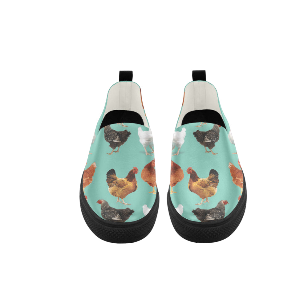 Chicken Pattern Apus Slip-on Microfiber Women's Shoes - TeeAmazing