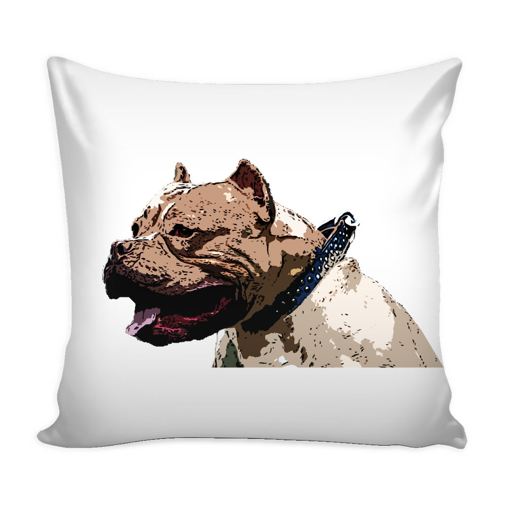 Pitbull Dog Pillow Cover - Pitbull Accessories - TeeAmazing