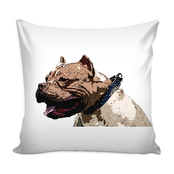 Pitbull Dog Pillow Cover - Pitbull Accessories - TeeAmazing - 1