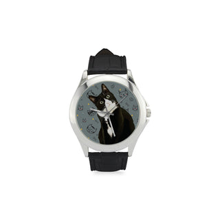 Tuxedo Cat Women's Classic Leather Strap Watch - TeeAmazing