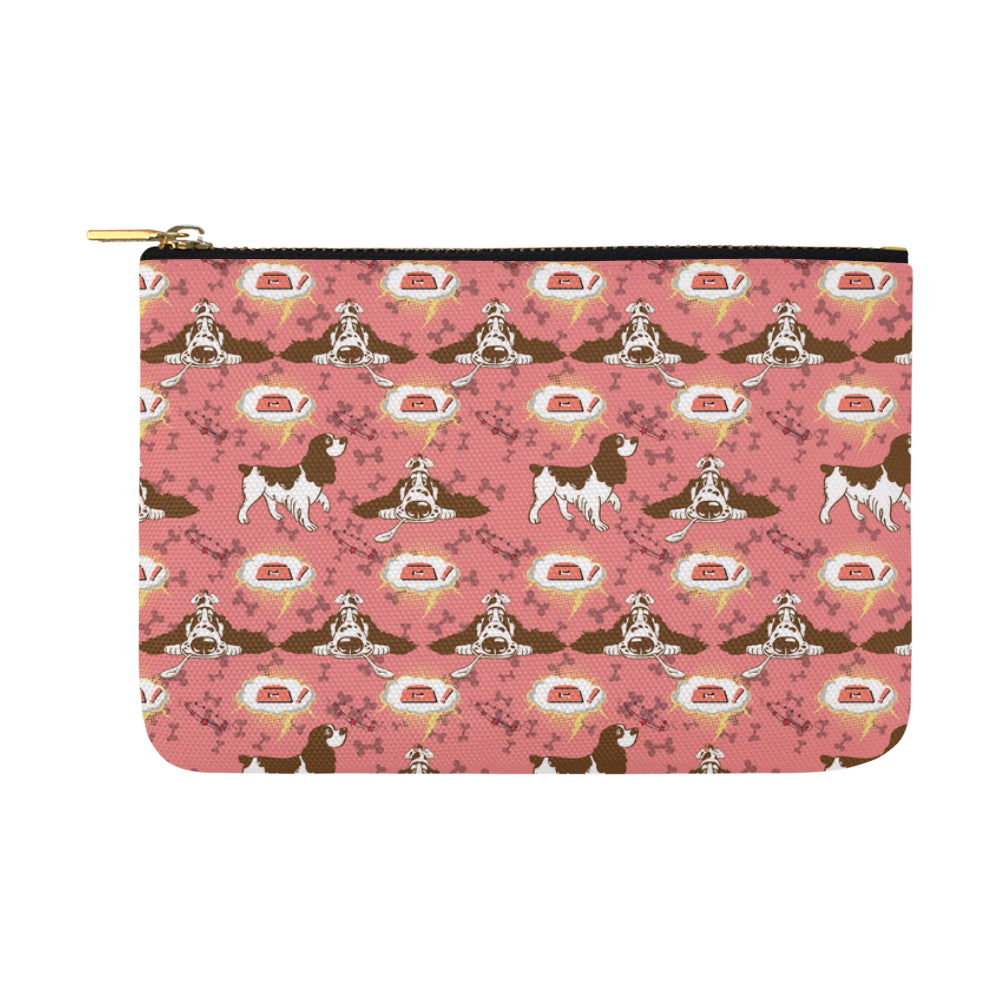 English Cocker Spaniel Pattern Carry-All Pouch 12.5x8.5 - TeeAmazing