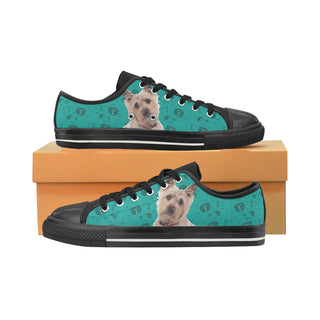 Cairn terrier Black Canvas Women's Shoes/Large Size (Model 018) - TeeAmazing