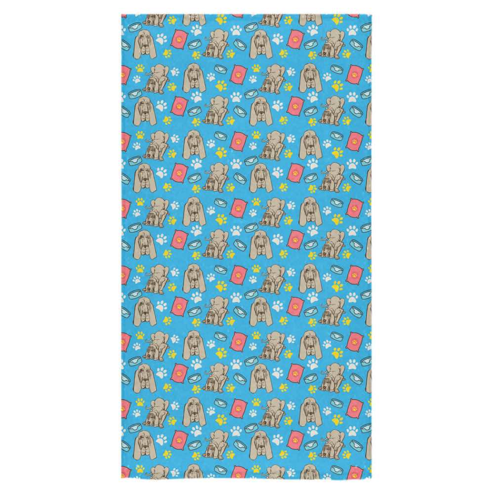 "Bloodhound Pattern Bath Towel 30""x56"" - TeeAmazing"