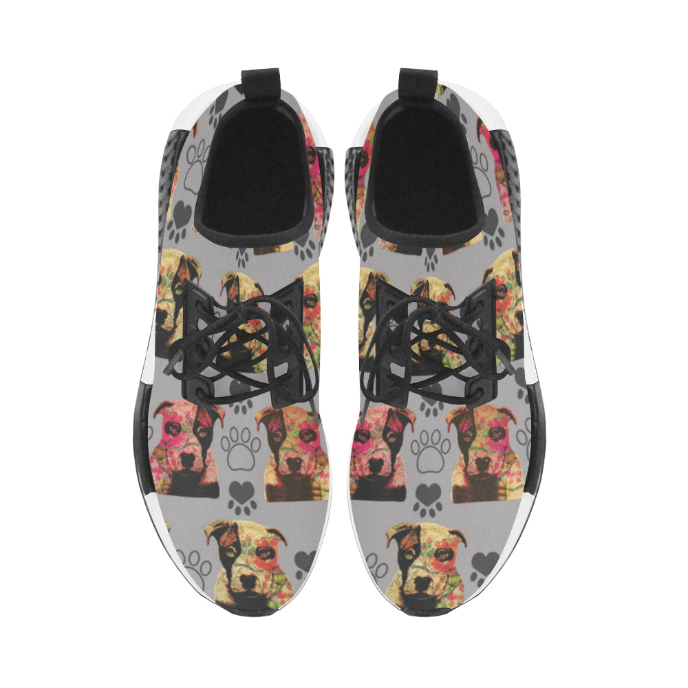 Pit Bull Pop Art Pattern No.1 Men's Draco Running Shoes - TeeAmazing