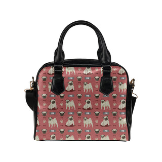 Pug Pattern Shoulder Handbag - TeeAmazing