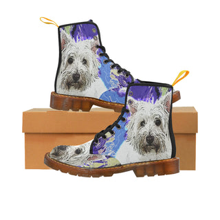 West Highland White Terrier Black Boots For Men - TeeAmazing