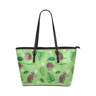 Constrictor Pattern Leather Tote Bag/Small - TeeAmazing