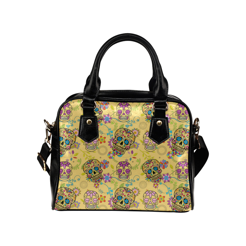 Sugar Skull Shoulder Handbag - TeeAmazing