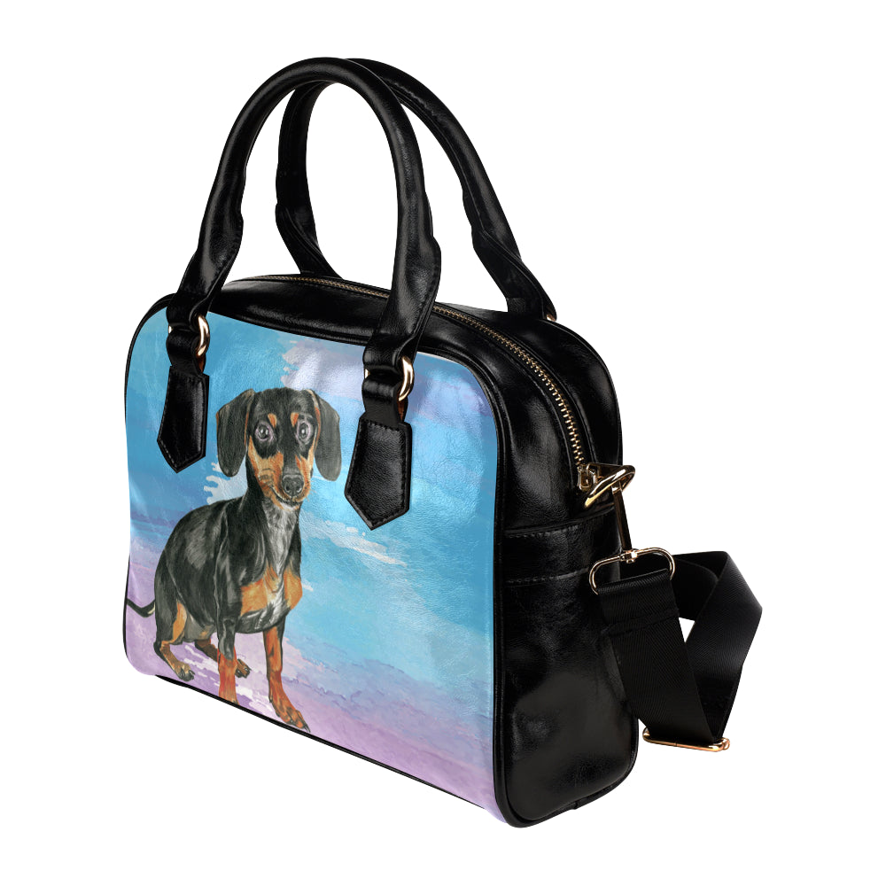 Dachshund Water Colour No.1 Shoulder Handbag - TeeAmazing
