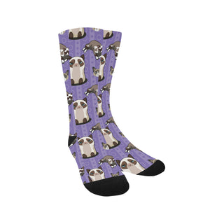 Snowshoe Cat Trouser Socks - TeeAmazing