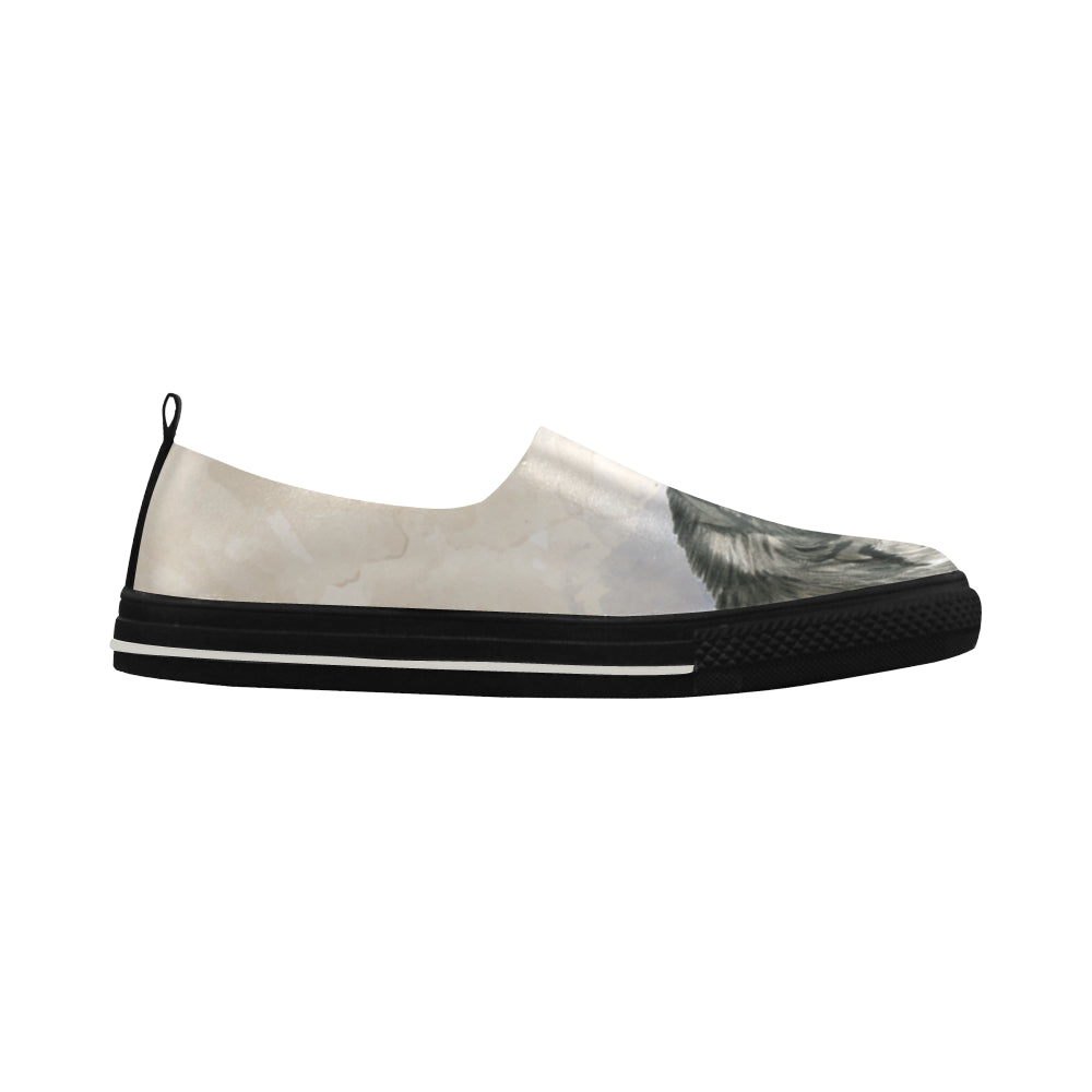 Alaskan Malamute Water Colour Apus Slip-on Microfiber Women's Shoes - TeeAmazing