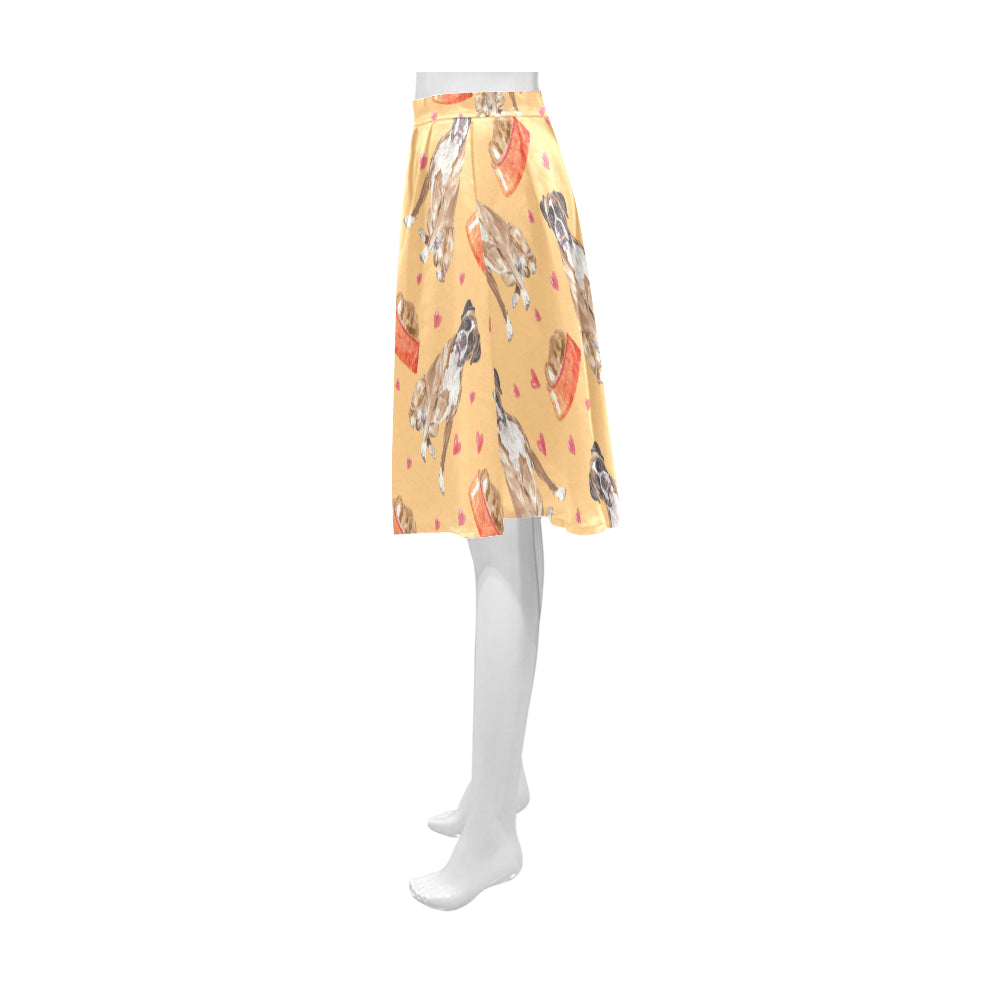 Boxer Water Colour Pattern No.1 Athena Women's Short Skirt - TeeAmazing