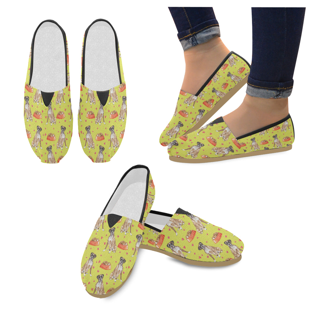 Boxer Water Colour Pattern No.2 Women's Casual Shoes - TeeAmazing