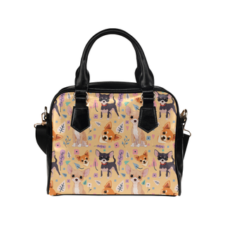 Chihuahua Flower Shoulder Handbag - TeeAmazing