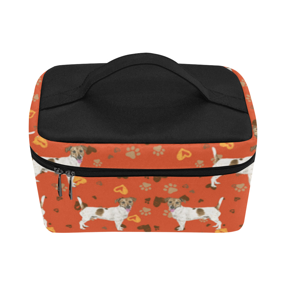 Jack Russell Terrier Water Colour Pattern No.1 Cosmetic Bag/Large - TeeAmazing