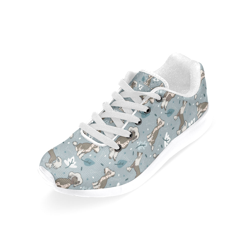 Chinese Crested White Sneakers for Men - TeeAmazing