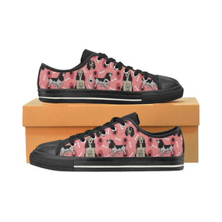 English Springer Spaniels Black Women's Classic Canvas Shoes - TeeAmazing