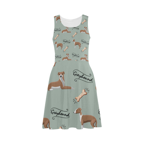 Greyhound Pattern Atalanta Sundress - TeeAmazing