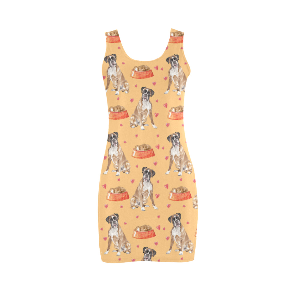 Boxer Water Colour Pattern No.1 Medea Vest Dress - TeeAmazing