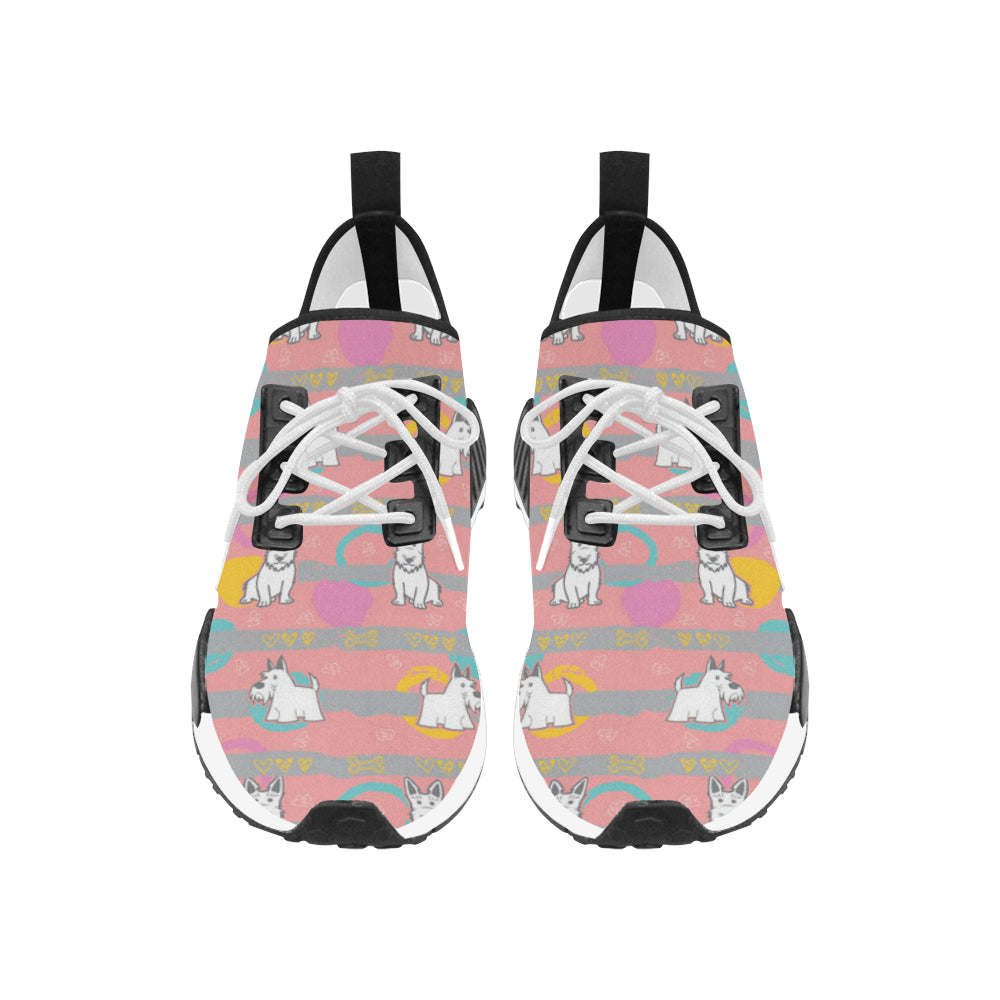 Scottish Terrier Pattern Women's Draco Running Shoes - TeeAmazing
