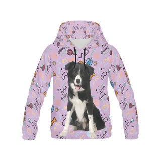 Border Collie All Over Print Hoodie for Women (USA Size) (Model H13) - TeeAmazing