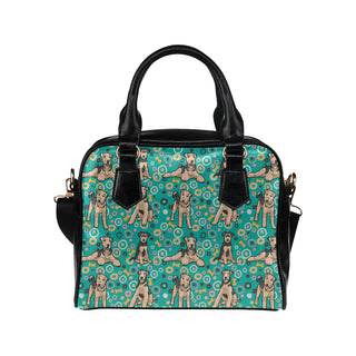 Airedale Terrier Pattern Shoulder Handbag - TeeAmazing