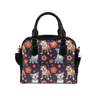 Pit bull Flower Shoulder Handbag - TeeAmazing