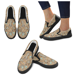 Whippet Black Women's Slip-on Canvas Shoes - TeeAmazing