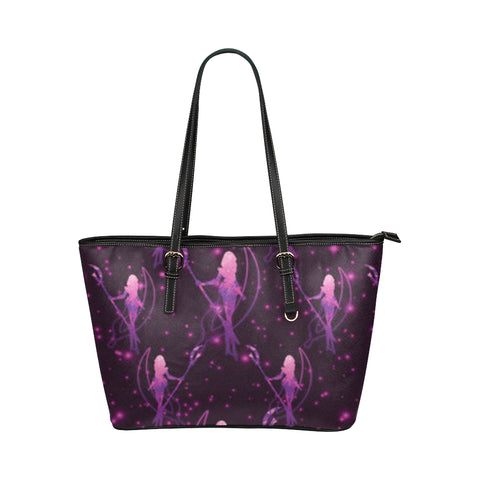 Sailor Saturn Leather Tote Bag/Small (Model 1651) - TeeAmazing