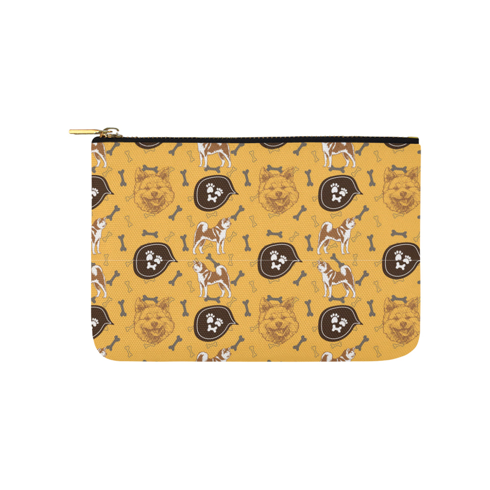 Akita Pattern Carry-All Pouch 9.5x6 - TeeAmazing