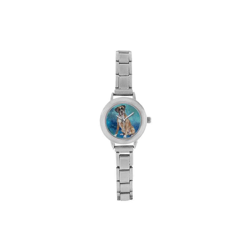 Free Boxer Water Colour Women's Italian Charm Watch - TeeAmazing