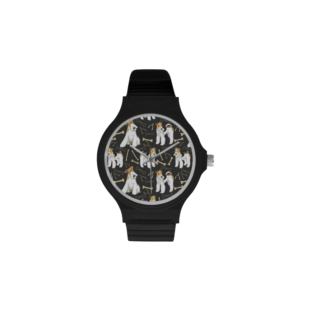 Wire Hair Fox Terrier Unisex Round Plastic Watch - TeeAmazing