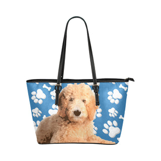 Goldendoodle Leather Tote Bag/Small - TeeAmazing