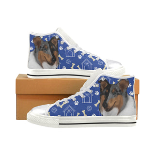 Collie Dog White Women's Classic High Top Canvas Shoes - TeeAmazing
