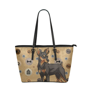 Miniature Pinscher Dog Leather Tote Bag/Small - TeeAmazing
