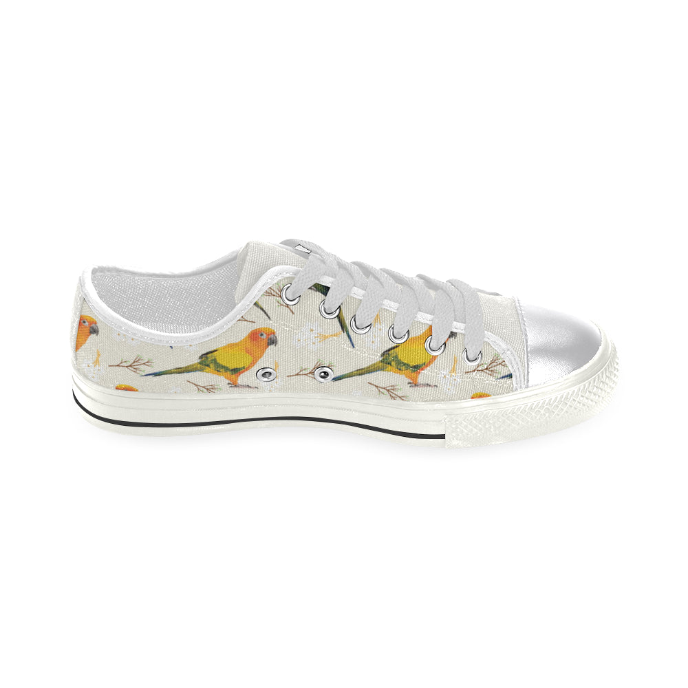 Conures White Women's Classic Canvas Shoes - TeeAmazing