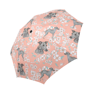 Italian Greyhound Flower Auto-Foldable Umbrella - TeeAmazing