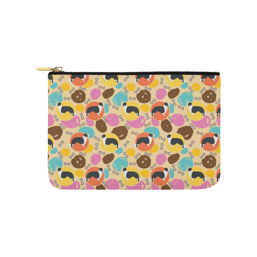 Border Collie Pattern Carry-All Pouch 9.5x6 - TeeAmazing