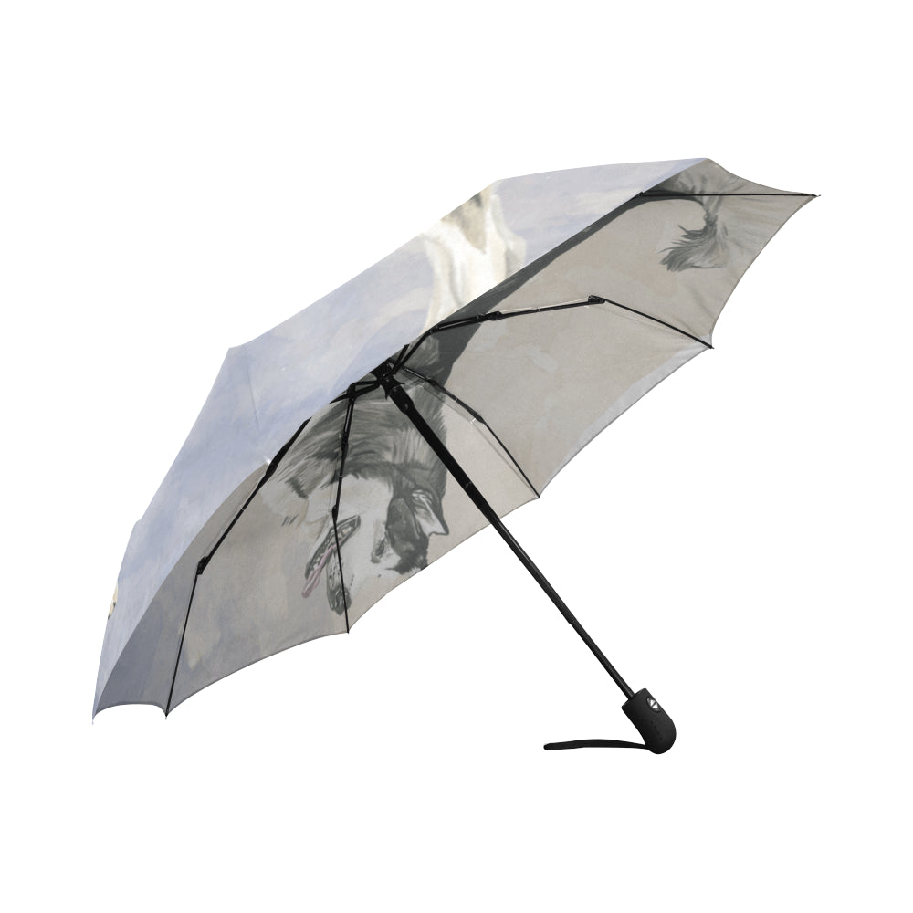 Alaskan Malamute Water Colour Auto-Foldable Umbrella - TeeAmazing