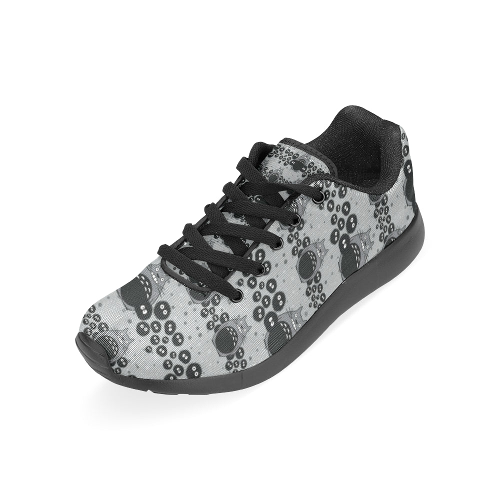 Totoro Pattern Black Sneakers Size 13-15 for Men - TeeAmazing