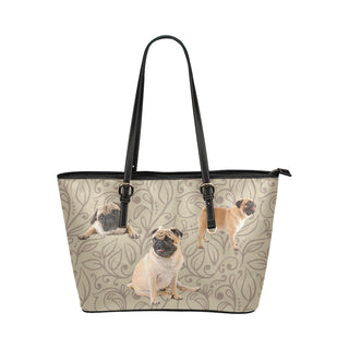 Pug Lover Leather Tote Bag/Small - TeeAmazing
