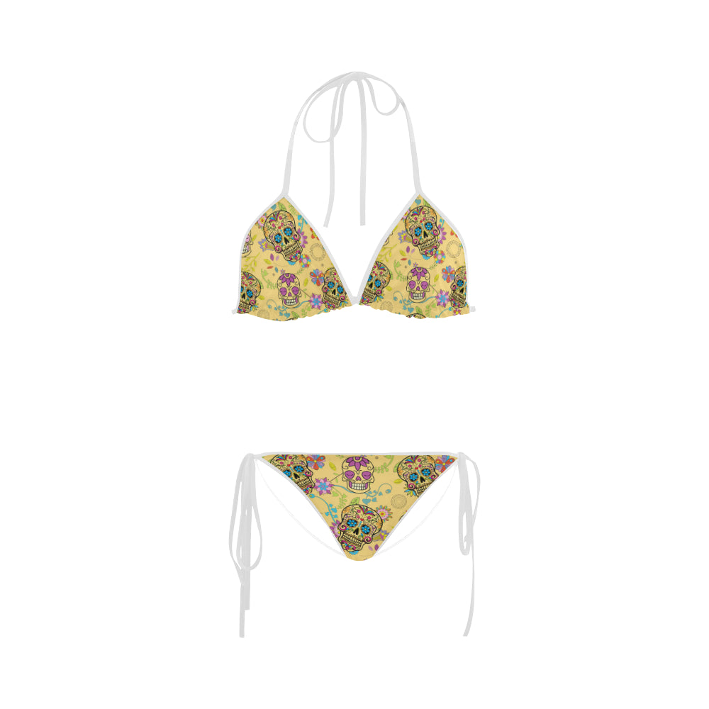 Sugar Skull Custom Bikini Swimsuit - TeeAmazing
