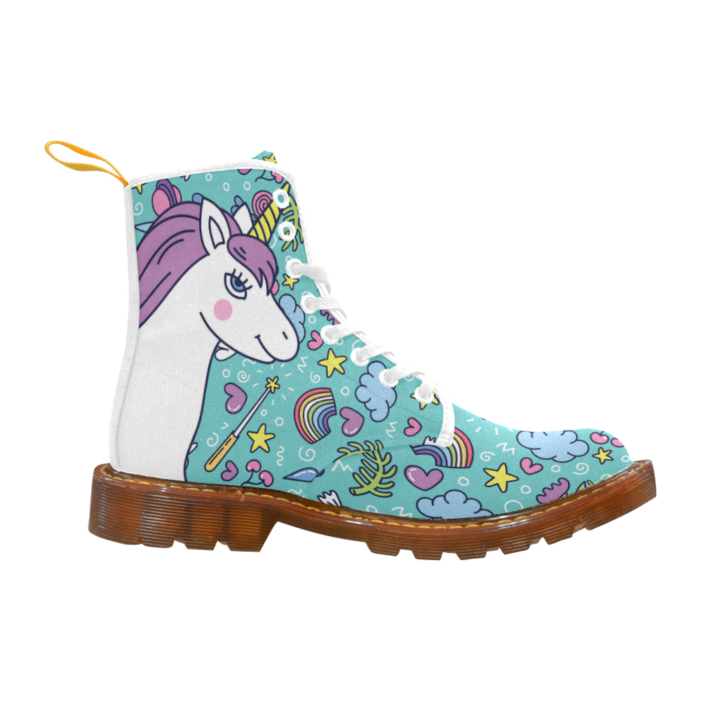 Unicorn White Boots For Women - TeeAmazing