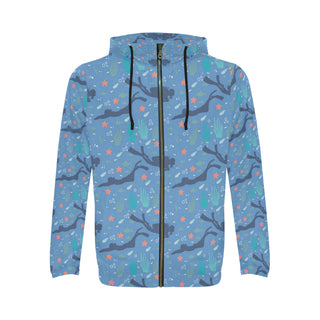 Scuba Diving Pattern All Over Print Full Zip Hoodie for Men (Model H14) - TeeAmazing