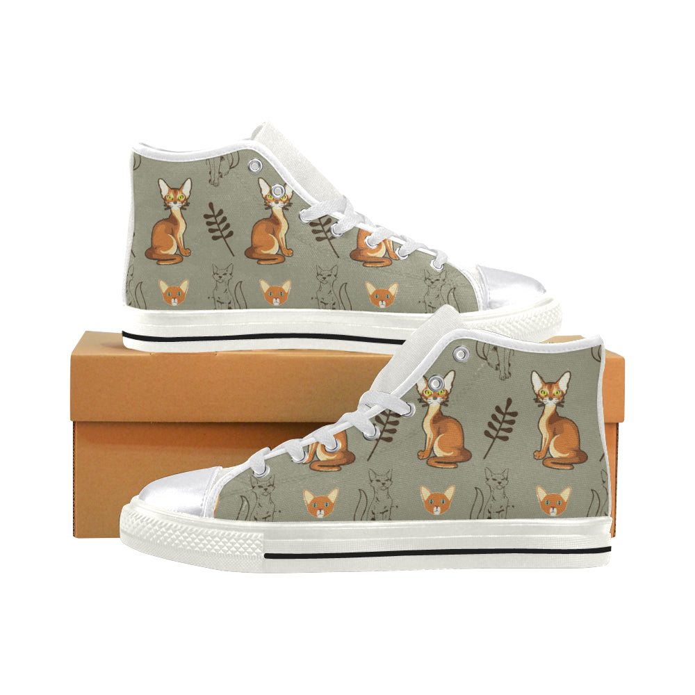 Abyssinian White Women's Classic High Top Canvas Shoes - TeeAmazing