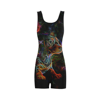 Dachshund Glow Design 2 Classic One Piece Swimwear - TeeAmazing