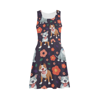 Pit bull Flower Atalanta Sundress - TeeAmazing