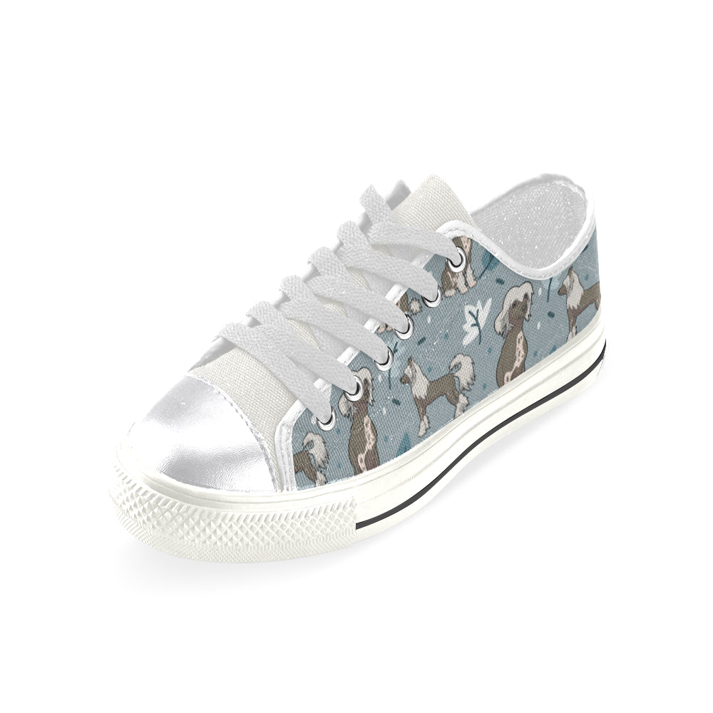 Chinese Crested White Canvas Women's Shoes/Large Size - TeeAmazing
