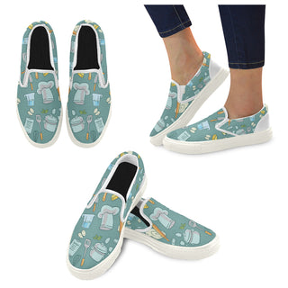 Cooking White Women's Slip-on Canvas Shoes - TeeAmazing